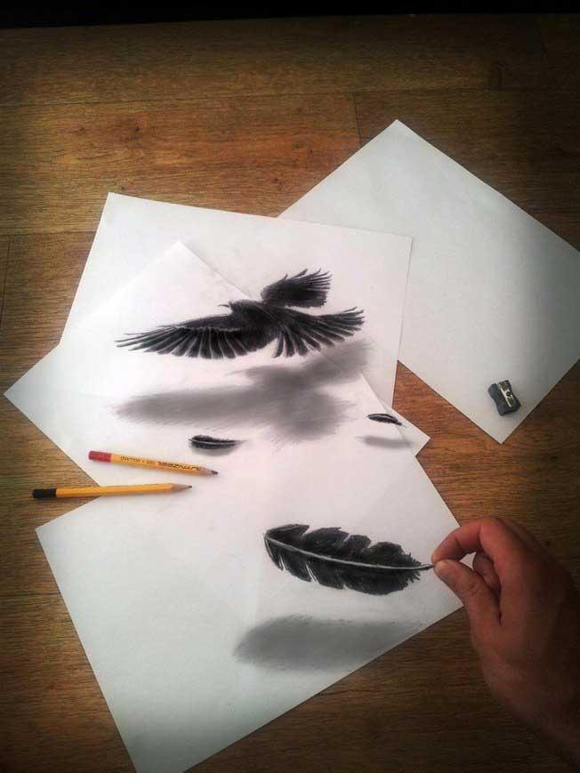 как рисовать объемные рисунки карандашом:
